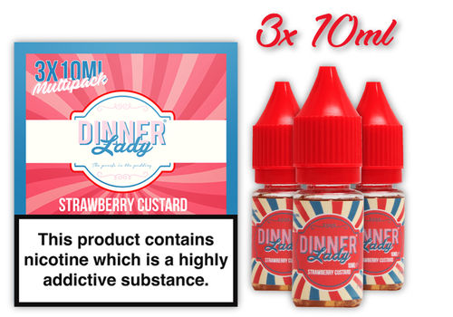 Dinner Lady Strawberry Custard Multipack 3x 10ml